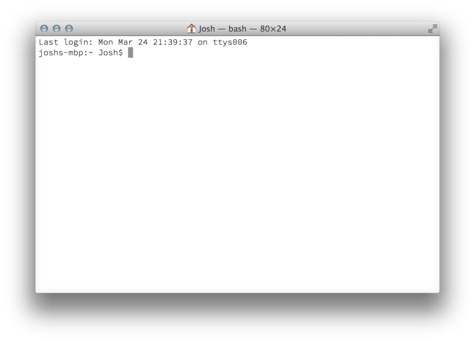 Terminal.app Command Prompt on OS X